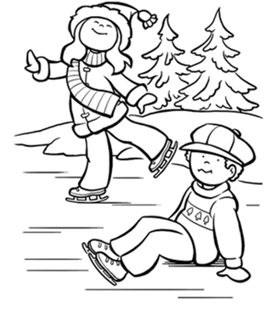 children ice skating coloring pages - photo#2