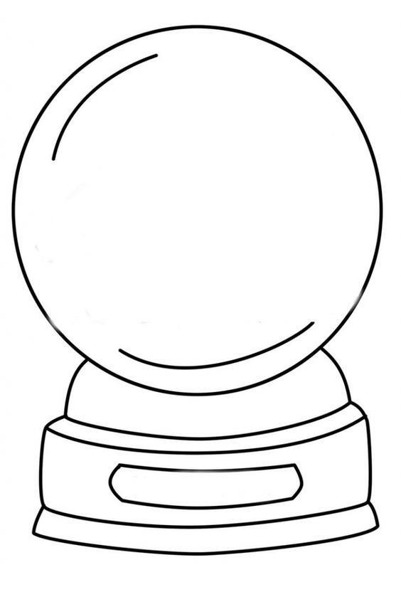 33 Best Snow Globes Images On Pinterest | Coloring Pages, Snow intended for Snow  Globe Coloring Pages | Aktiviteter, Aktiviteter for barn, Tegninger
