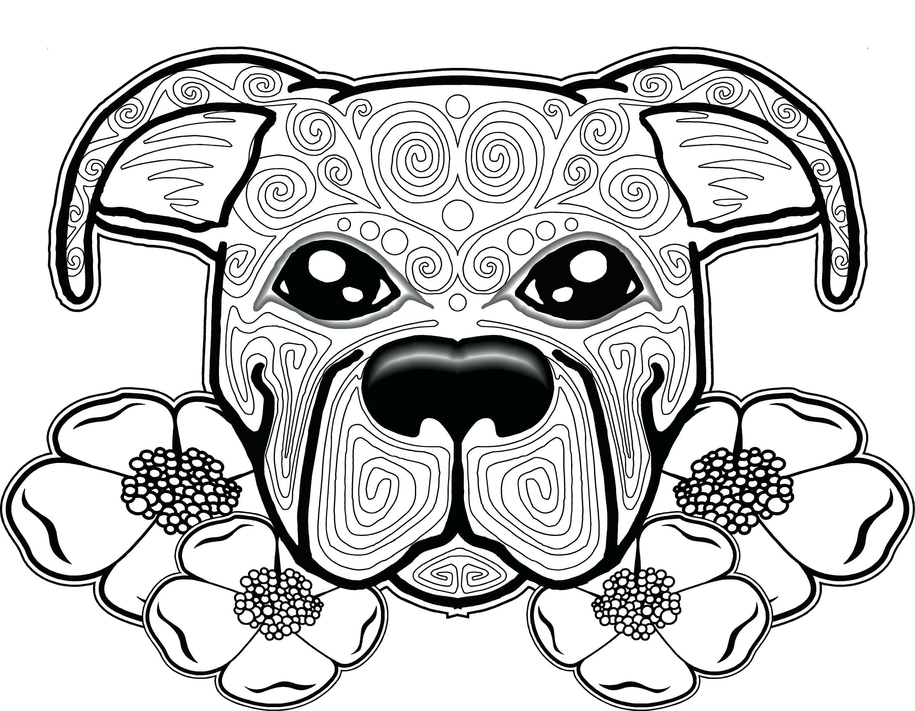 Dog Coloring Pages for Adults - Best Coloring Pages For Kids