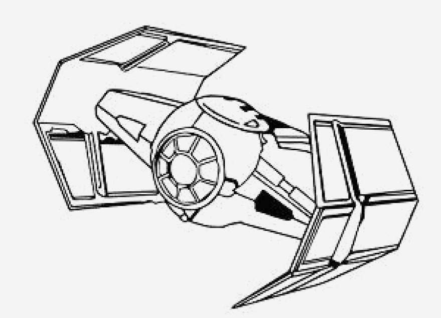 Tie Fighter Coloring Page at GetDrawings | Free download