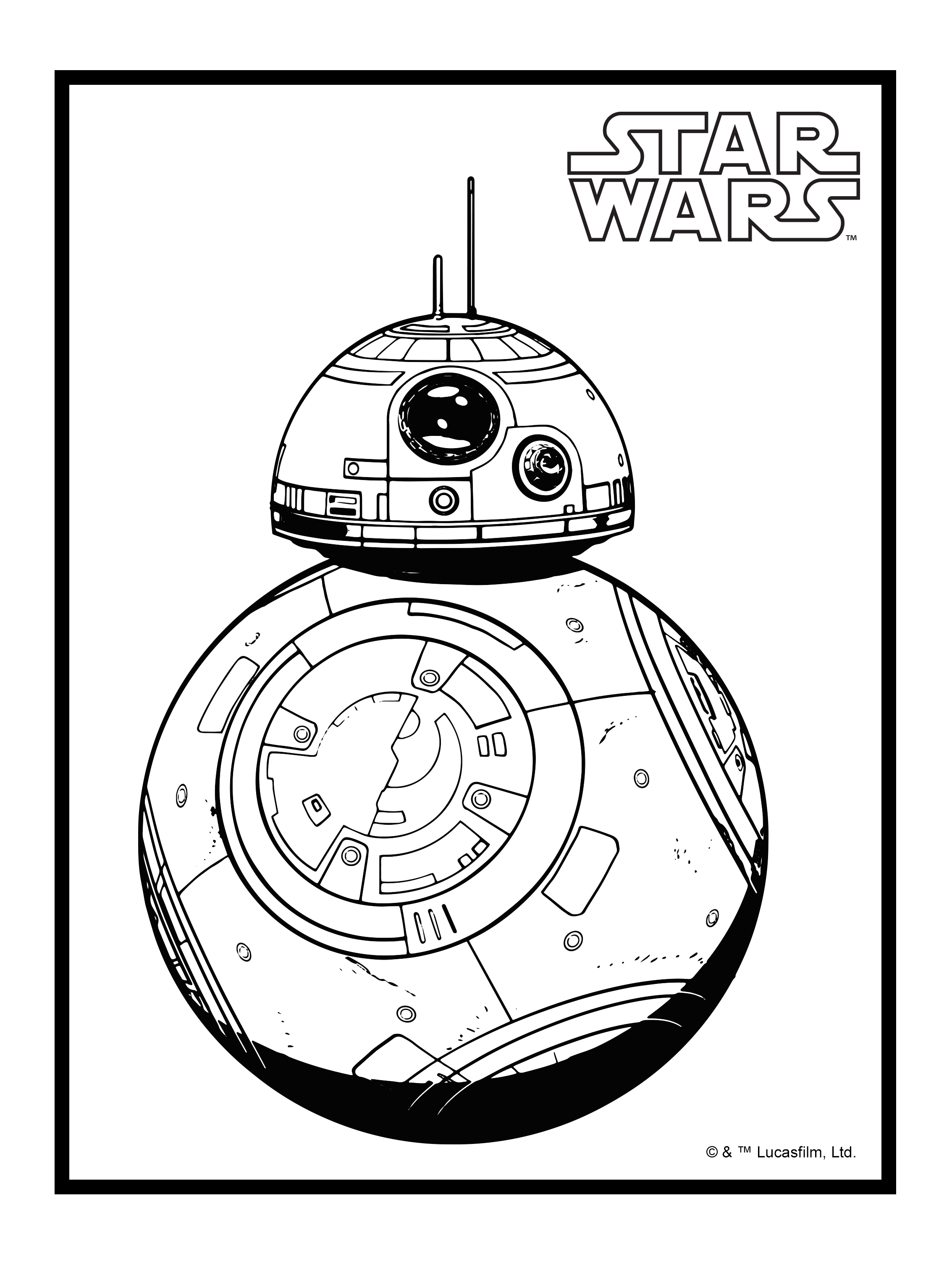 BB8 Coloring Pages
