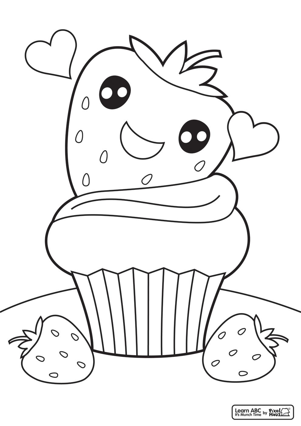Colouring Pages For Cupcakes : Cute Cupcake Coloring Pages - Coloring Home