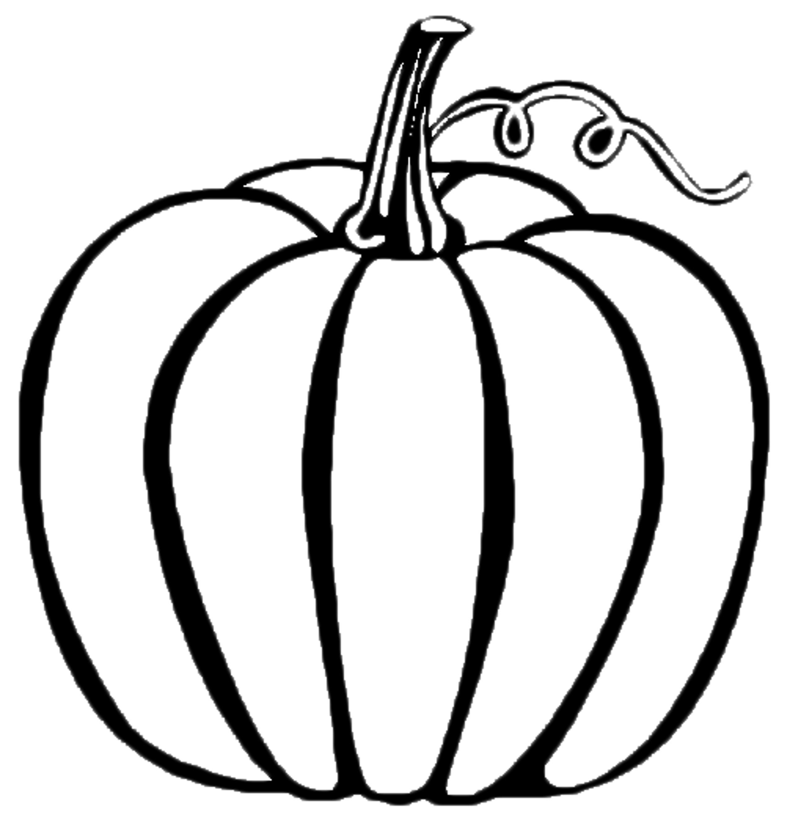 Blank Pumpkin Template - Coloring Home