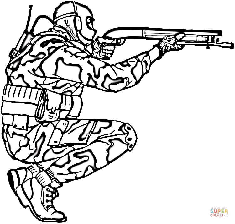 soldier in camouflage coloring page free printable coloring pages - Air Force Coloring Pages Printable
