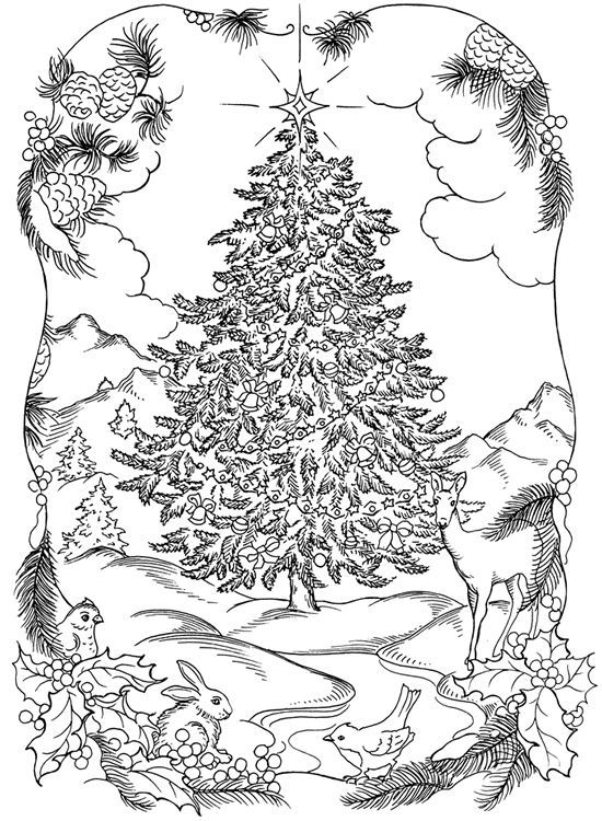Christmas Coloring Pages For Adults To Print Free Coloring