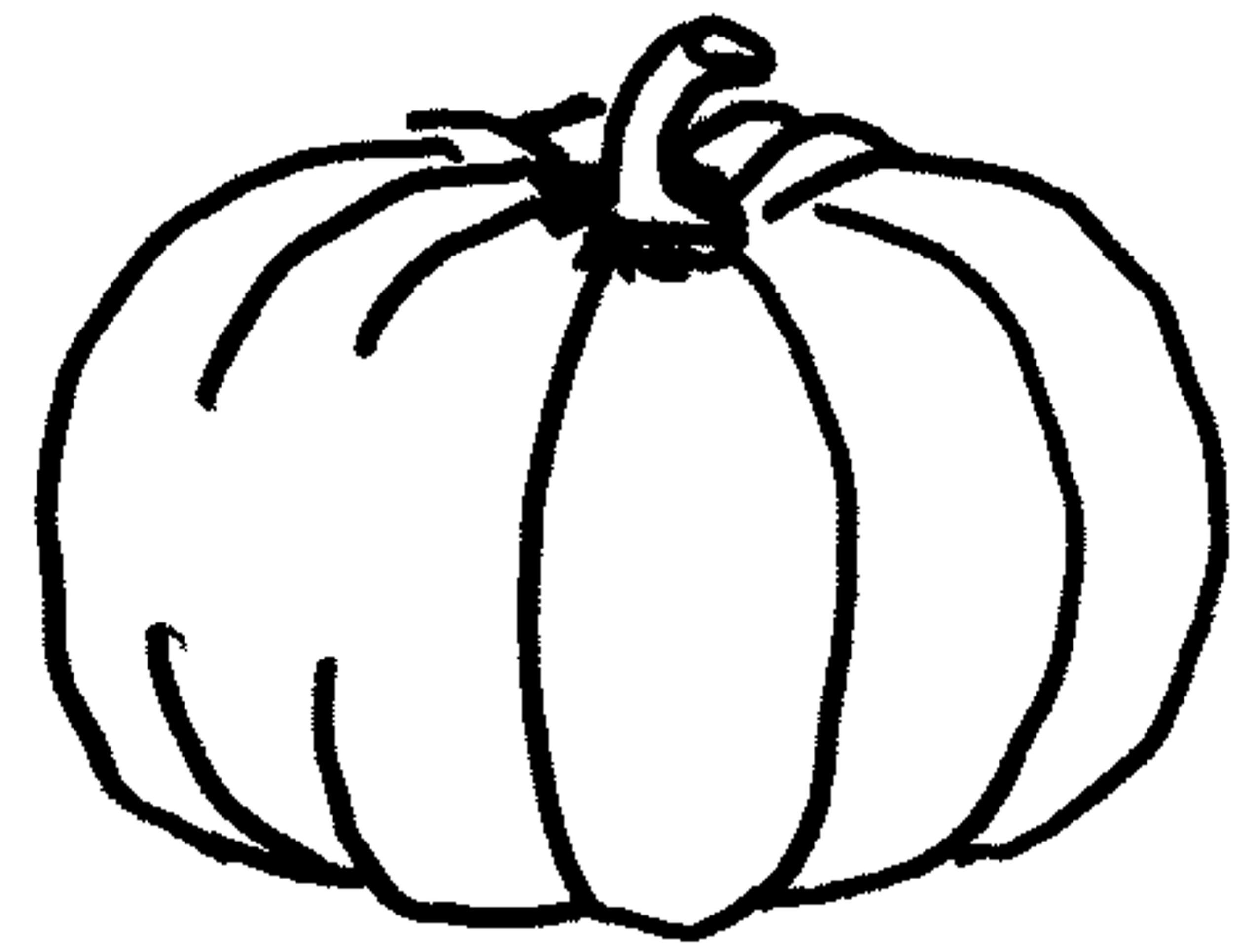 Pumpkin coloring pages for kids - Preschool Easy Fall Pumpkin Coloring Pages Printable Printable