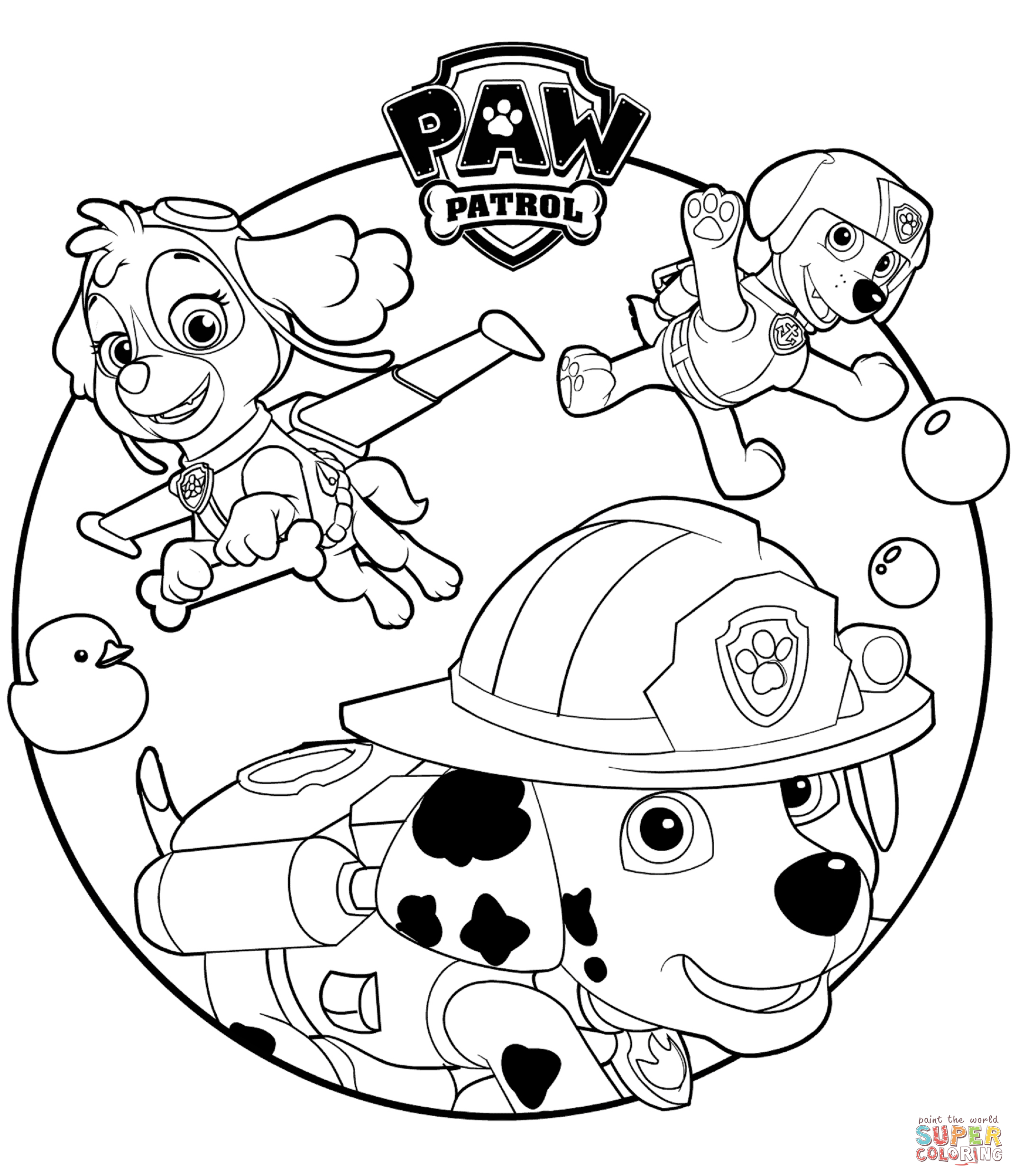 Paw Patrol Coloring Pages Marshall And Firetruck ...