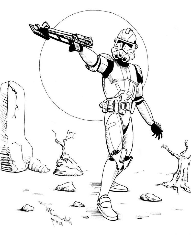 Print Star Wars Coloring Pages Stormtrooper or Download Star Wars ...