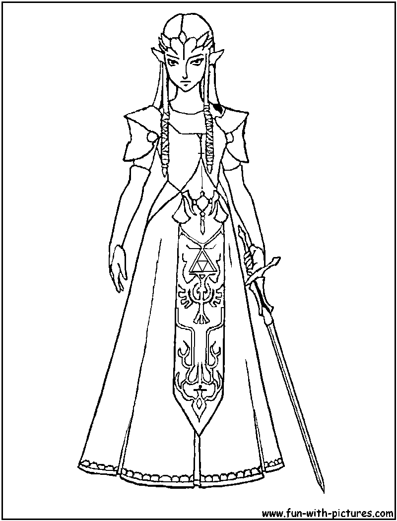 13 Pics of Zelda Coloring Pages - Link and Zelda Coloring Pages ...