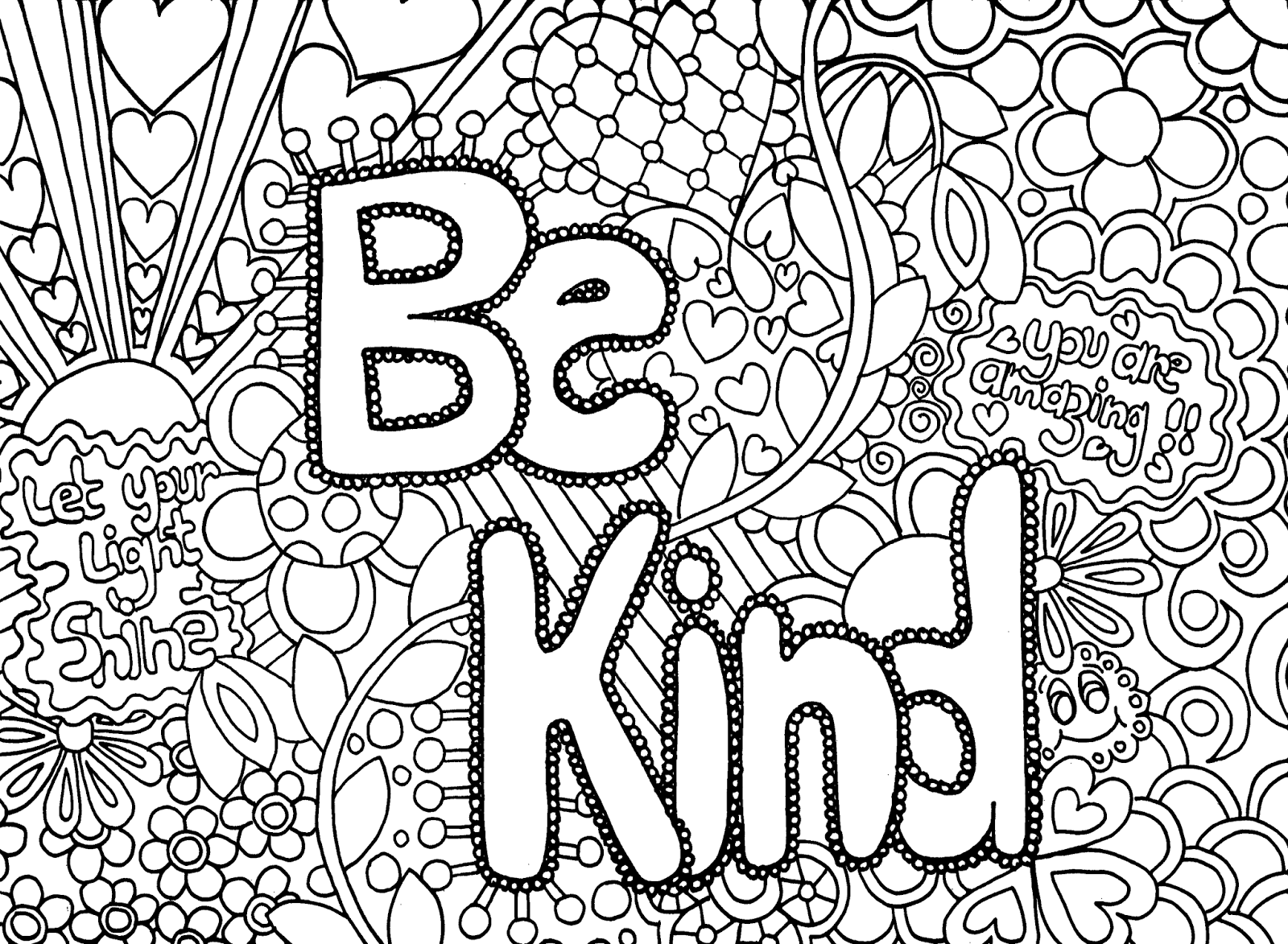 Free Coloring Pages For Adults Printable Hard To Color Abstract ...