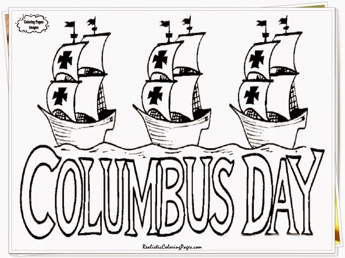 Coloring pages columbus day printable
