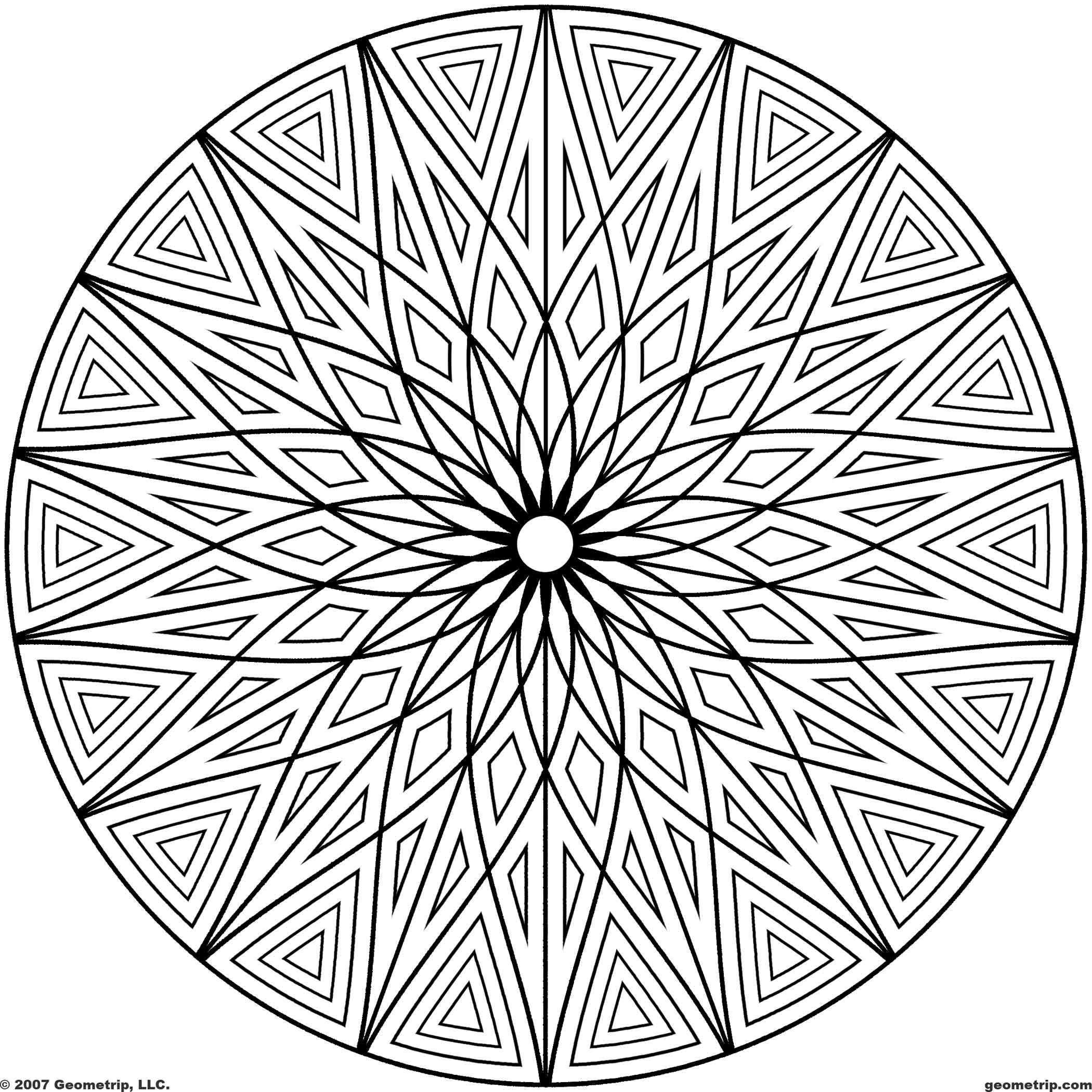 Hard kaleidoscope coloring pages - Coloring Pages Free Printable Coloring Pages For Adults Geometric