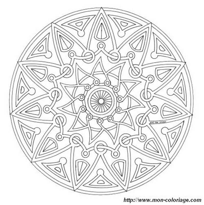 Mandala Coloring Pages Complicated