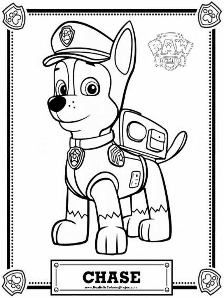 Paw Patrol Coloring Pages Aspca : Paw patrol chase coloring pages az