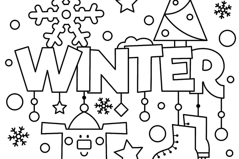 Winter Sign Coloring Pages - Coloring Home