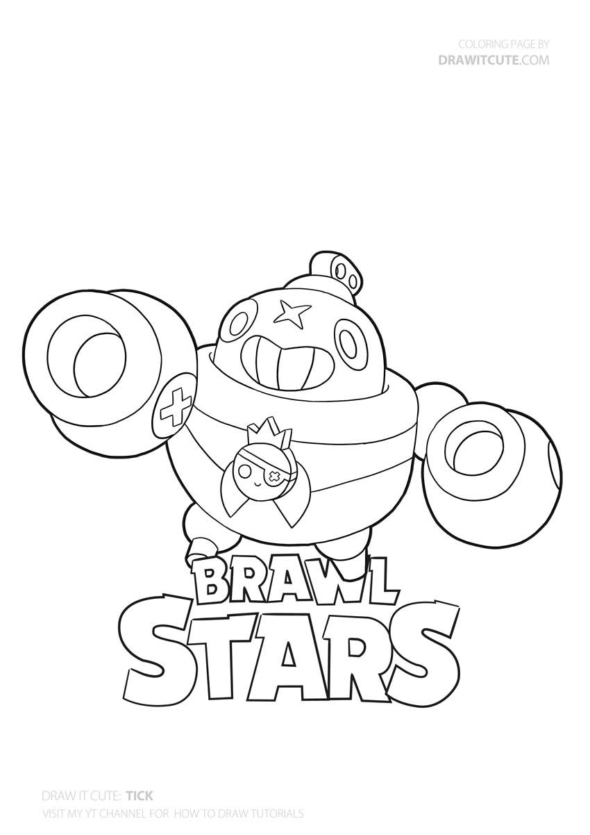 9F6 How To Draw Poco Super Easy With Coloring Page C Brawl ...