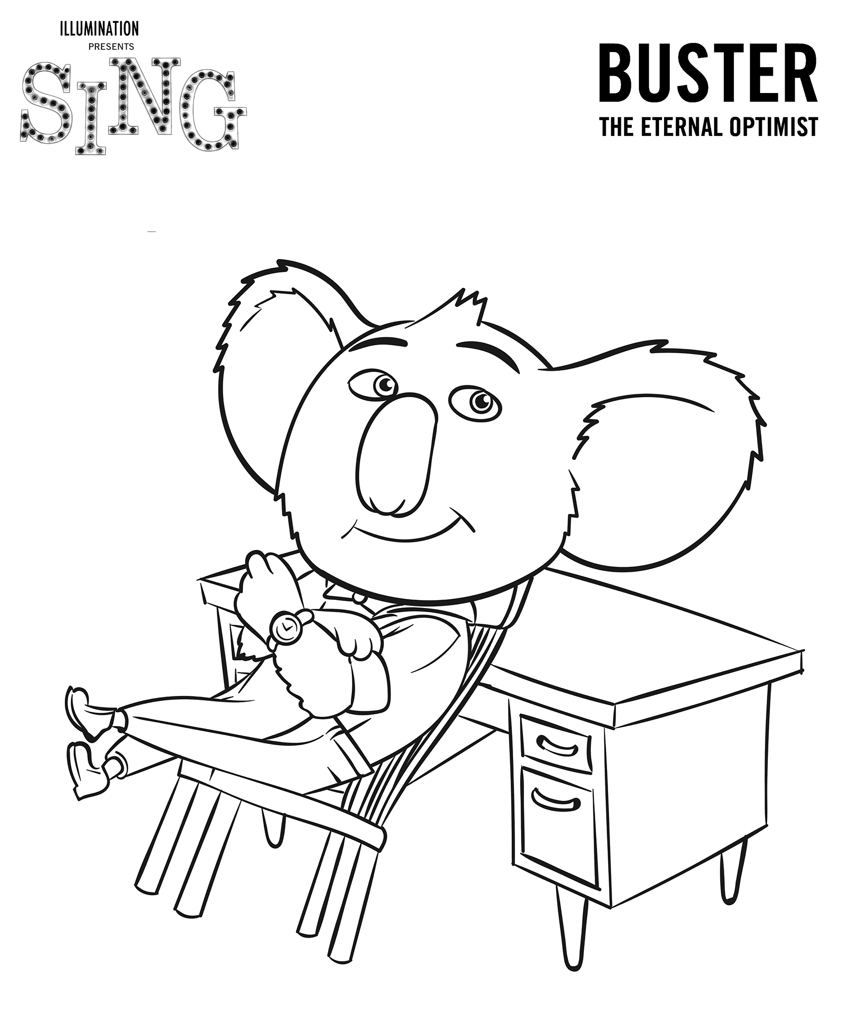 coloring pages of singing - photo#21