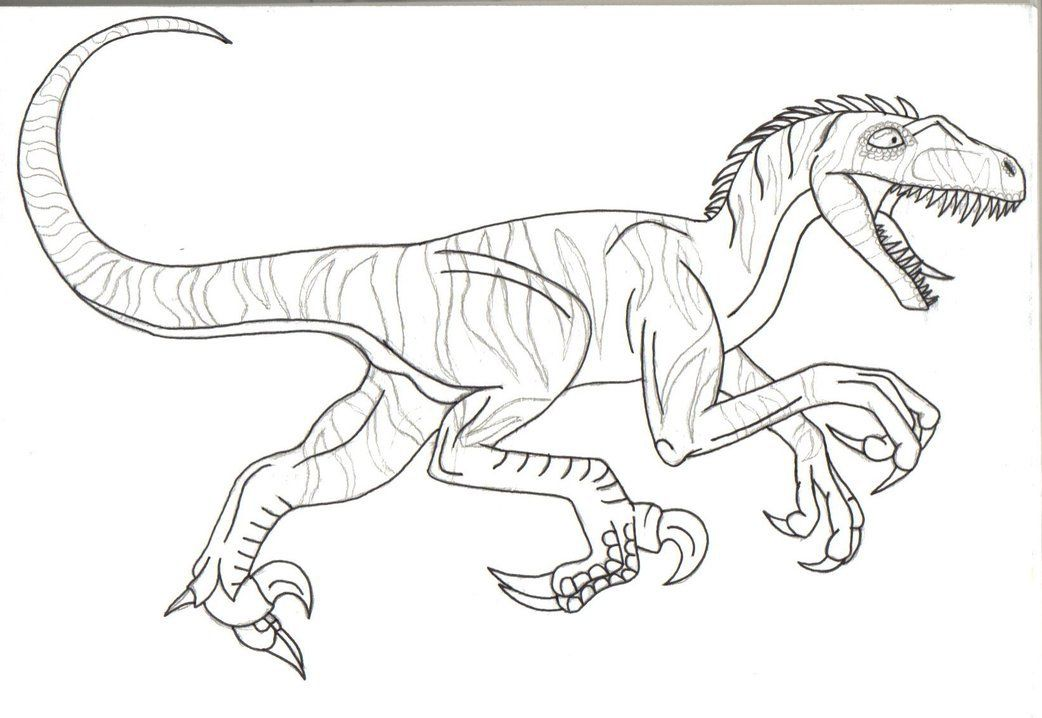velociraptor jurassic park coloring pages - photo#15