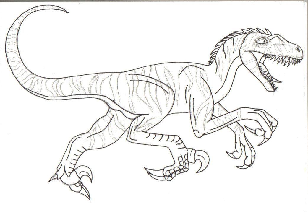 ausmalbilder dinosaurier velociraptor  tippsvorlage