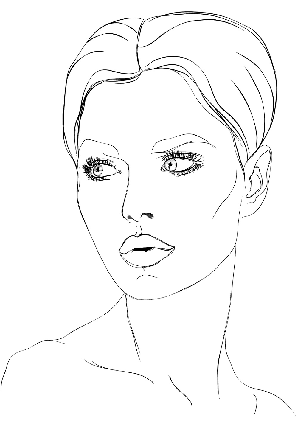 Makeup Tools Coloring Pages Face | K5 Worksheets