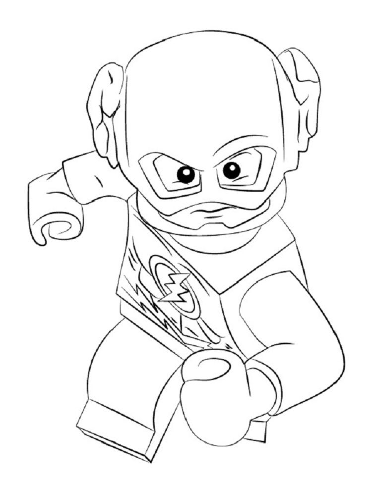 Lego Flash Coloring Pages Coloring Home