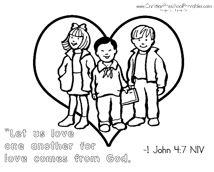 Love One Another Coloring Pages Coloring Home One Another Coloring Page