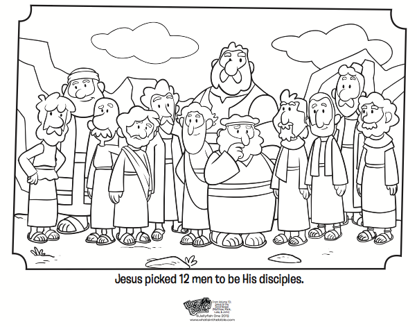 12 Disciples Coloring Page - Bible Coloring Pages | What's in the ...