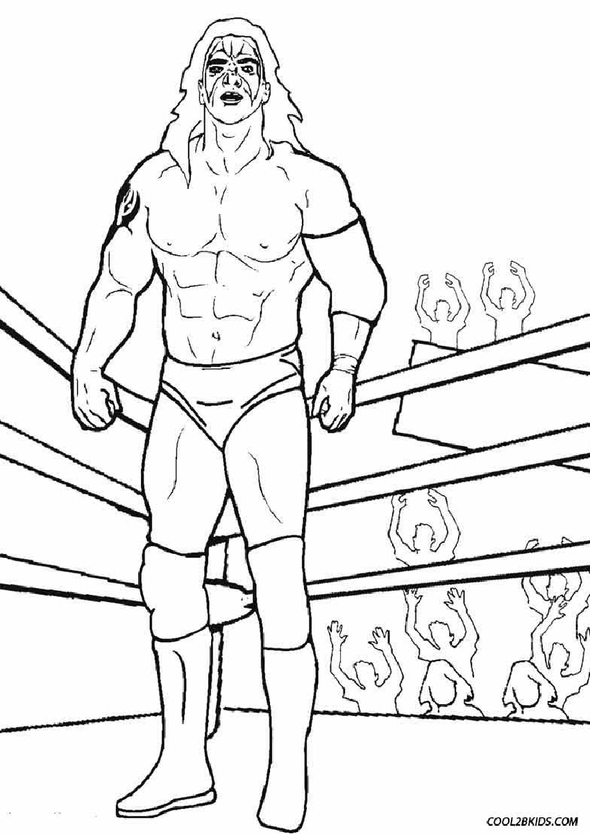 Wrestling Coloring Pages Printable 665