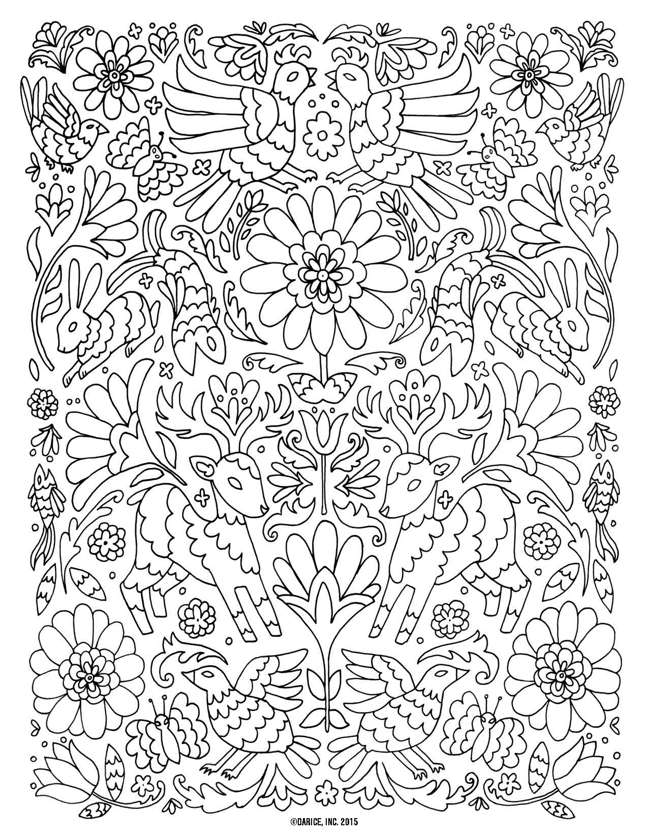 Flower Adult Coloring Pages
