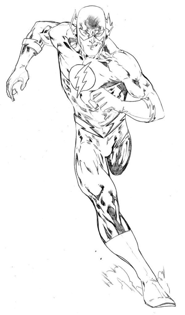 flash coloring pages online   Coloring Pages: The Flash Coloring Page Reverse Flash ...