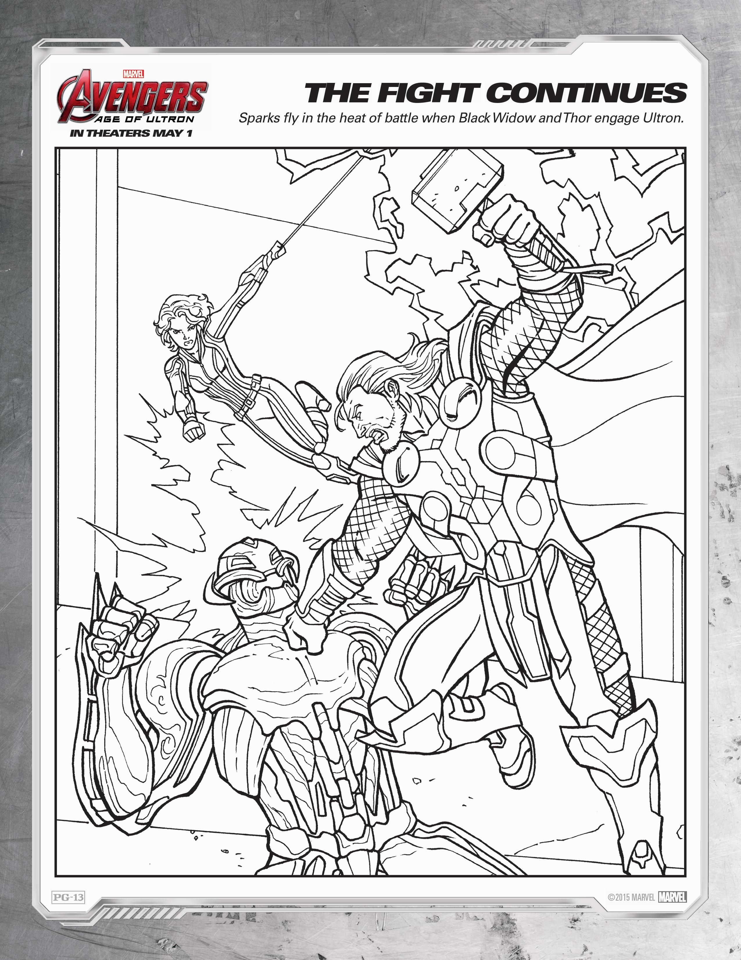 Coloring Pages Avengers Ultron : Avengers age of ultron coloring sheets