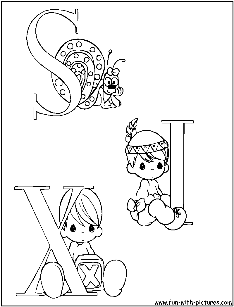 Precious Moments Alphabet Az Coloring