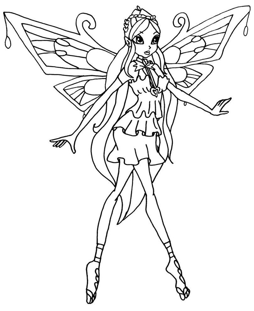 Winx Club Bloom Enchantix Coloring Pages Az Coloring Pages Winx Club Coloring Pages Bloom