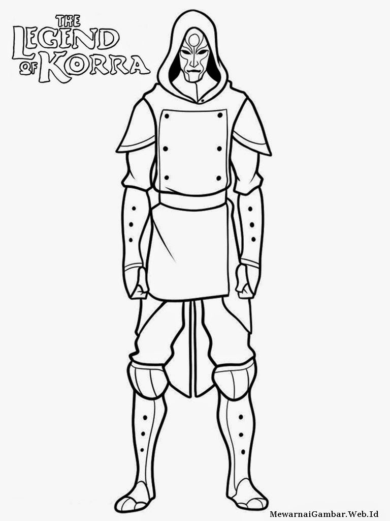 Avatar Legend Korra Coloring Pages Coloring Home