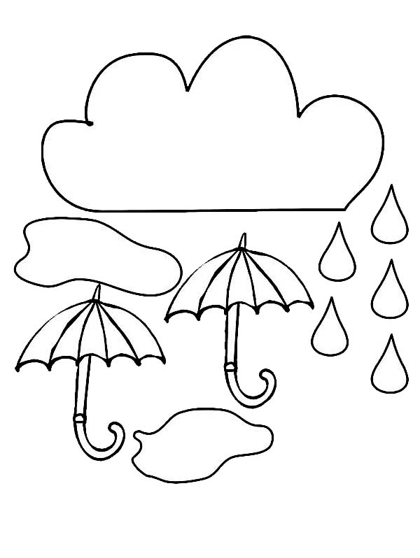 raindrop coloring pages clouds - photo#14