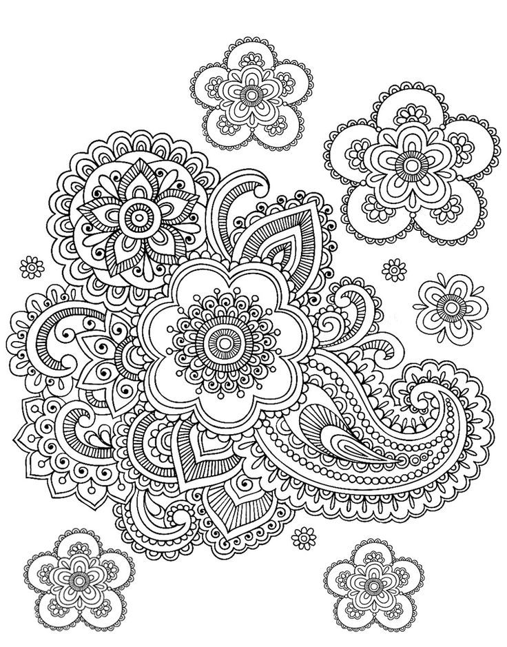 graphic relating to Printable Adult Coloring Pages Paisley called Totally free Printable Paisley Coloring Webpages For Older people - Coloring House