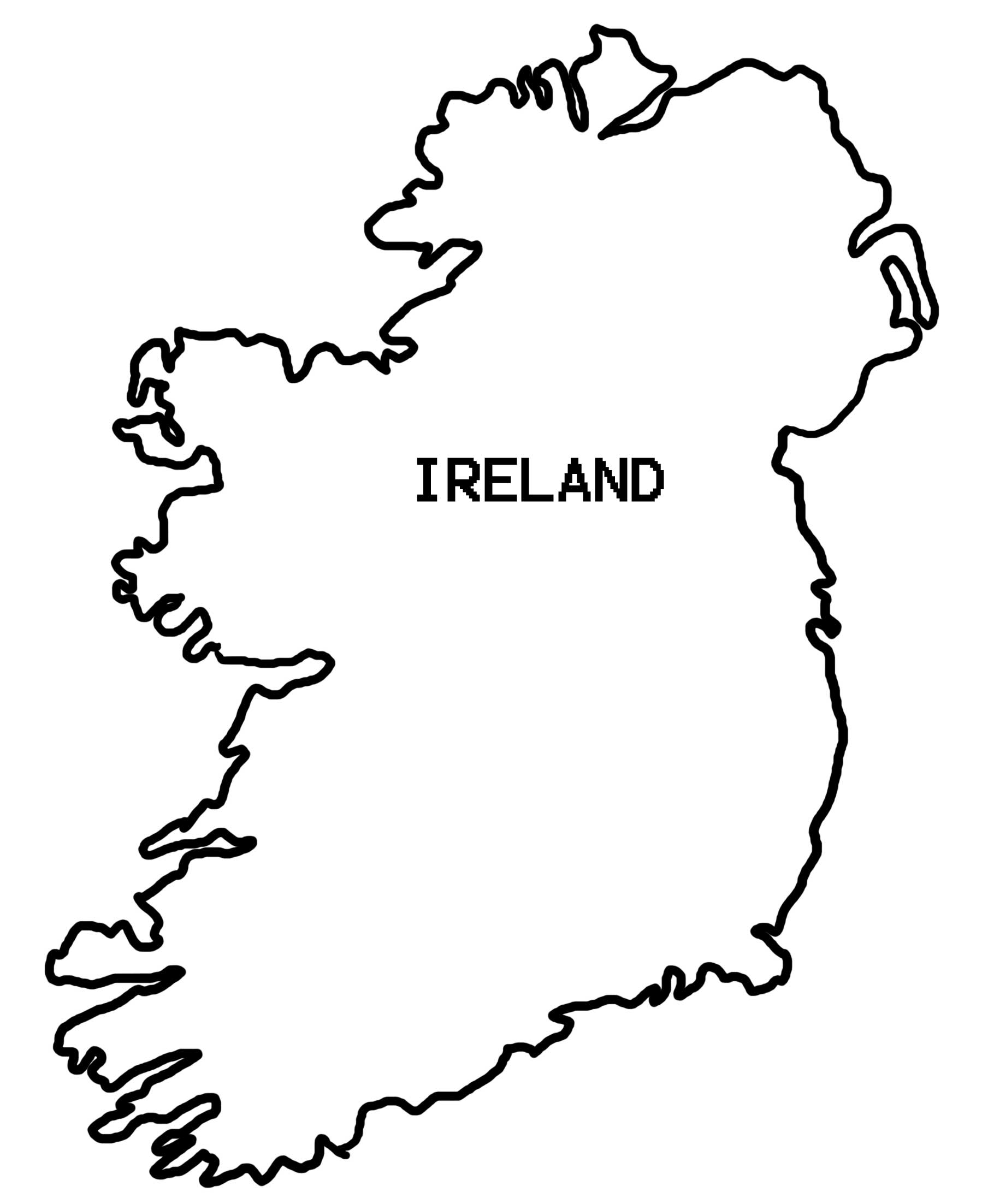 Map Of Ireland Coloring Page