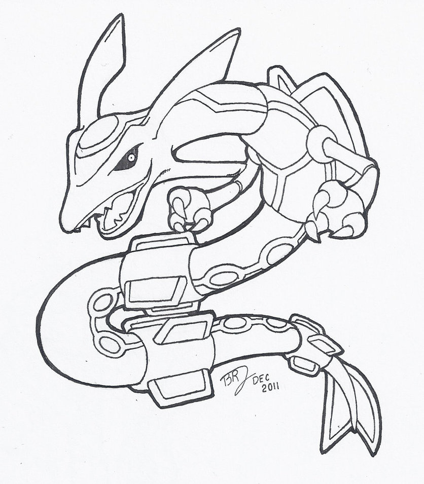 rayquaza coloring pages coloring home