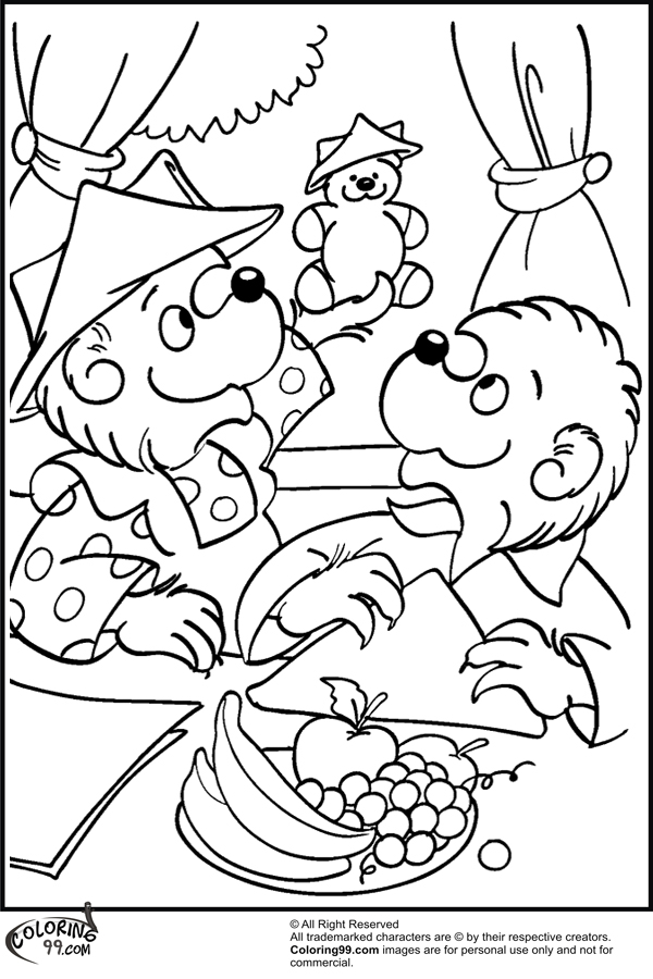 Free coloring pages berenstain bears live ~ All Berenstain Bears Pages Coloring Pages