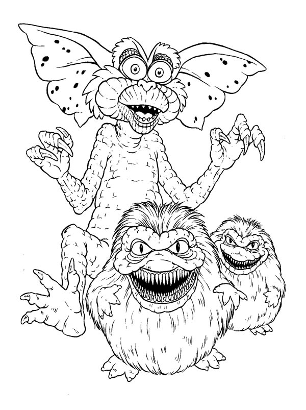 Monster Gremlins Coloring Page Coloring Home