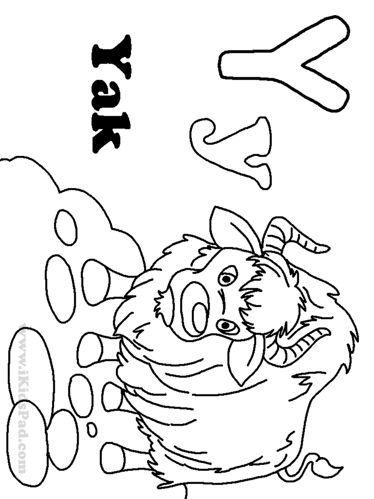 Coloring pages yak - 9tzxxjxec Letter Y Coloring Pages Free Coloring Home On Y Coloring Pages