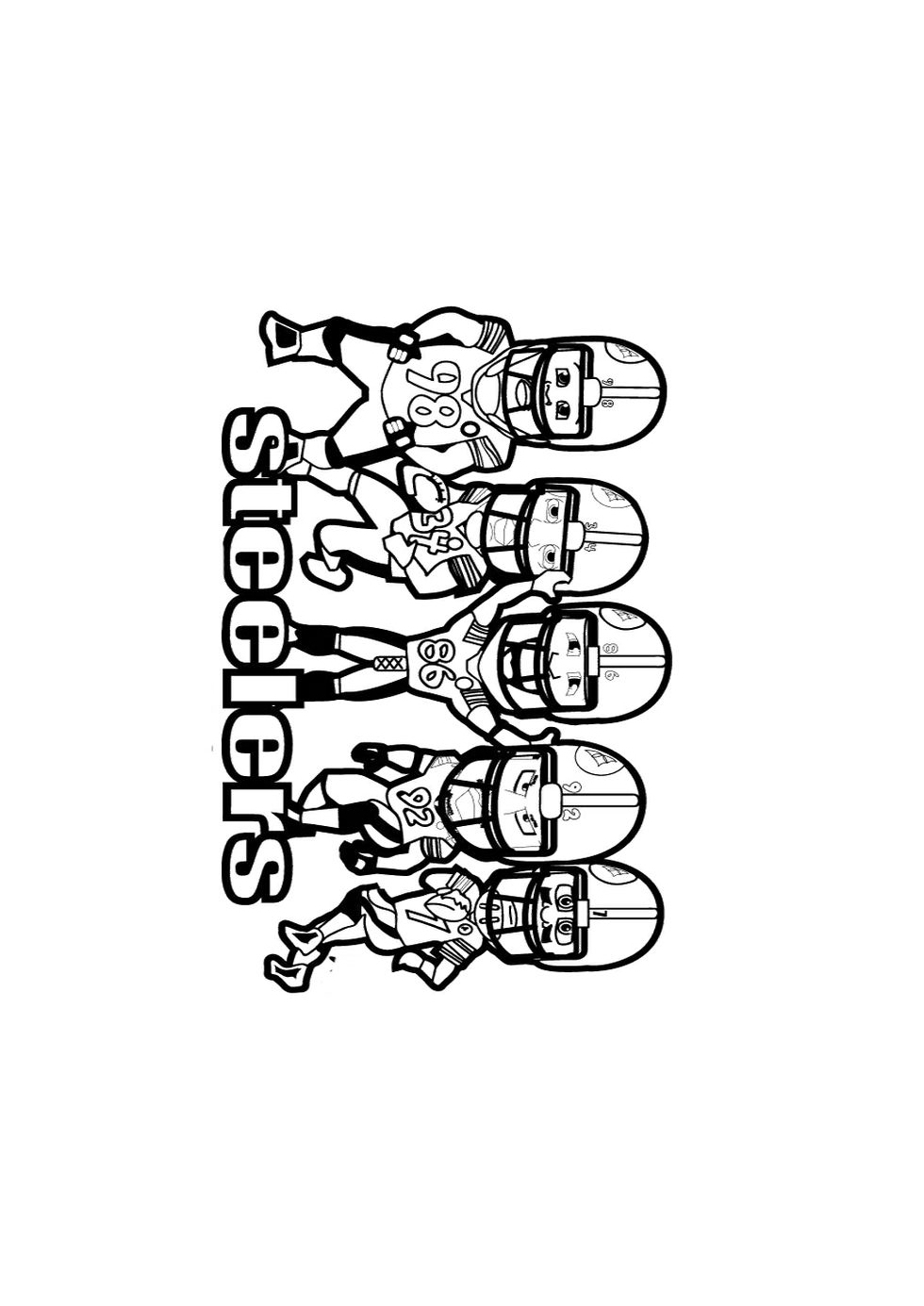 steelers free coloring pages - photo#26