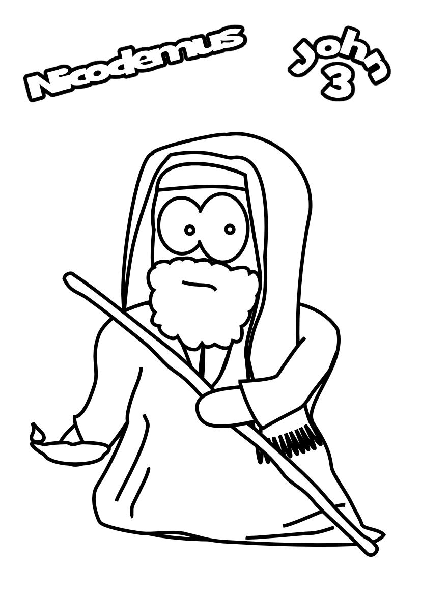 New Jesus And Nicodemus Coloring Page