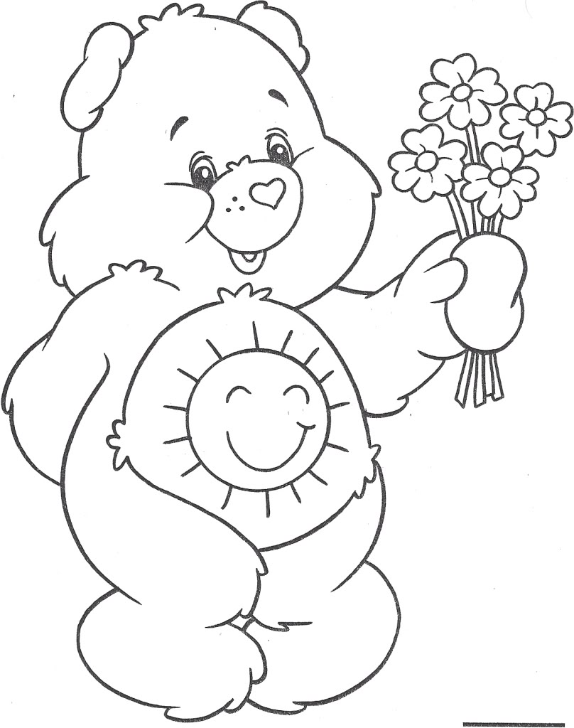 care bears coloring pages oopsy - photo#49