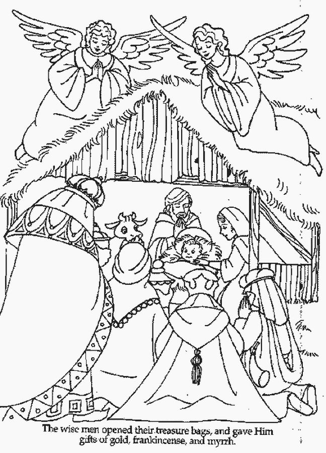 baby jesus coloring sheets xmas coloring pages - Baby Jesus Manger Coloring Page