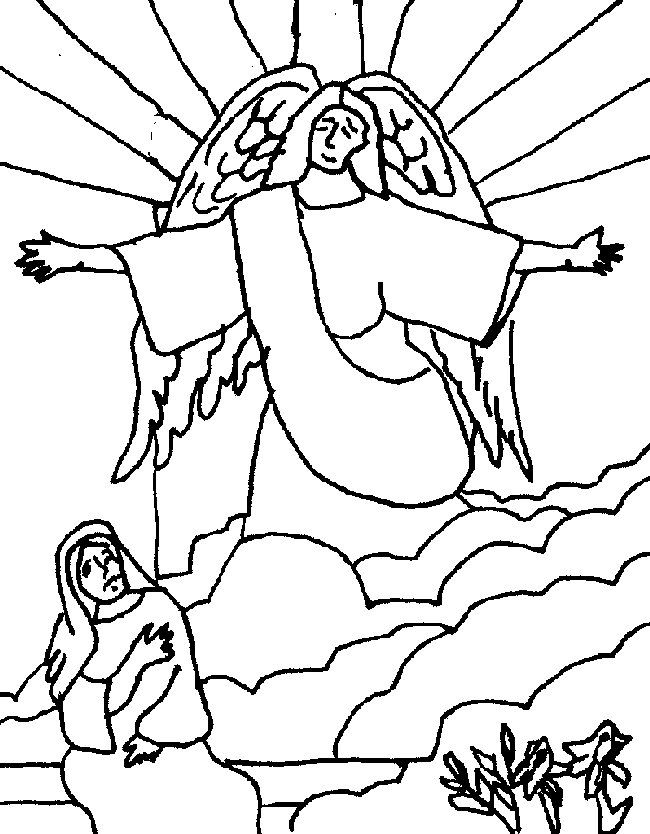 Mary Visits Elizabeth Coloring Page Coloring Home