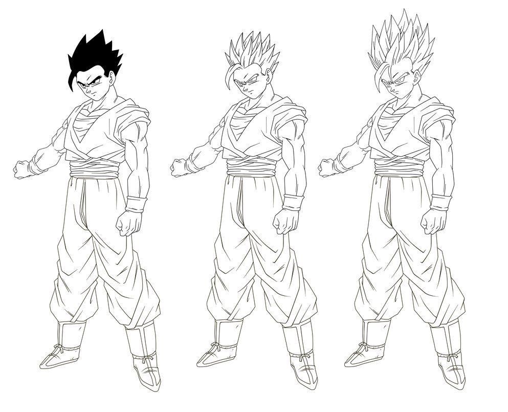 Ssj4 Gogeta Coloring Pages: Goku Ssj2 Coloring Pages