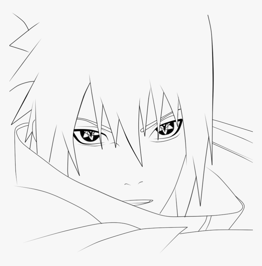 Sasuke Uchiha Line - Sasuke Sharingan Coloring Pages, HD Png ...