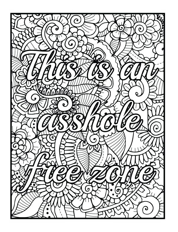 Swear Word Coloring Pages - Best Coloring Pages For Kids - Coloring Home