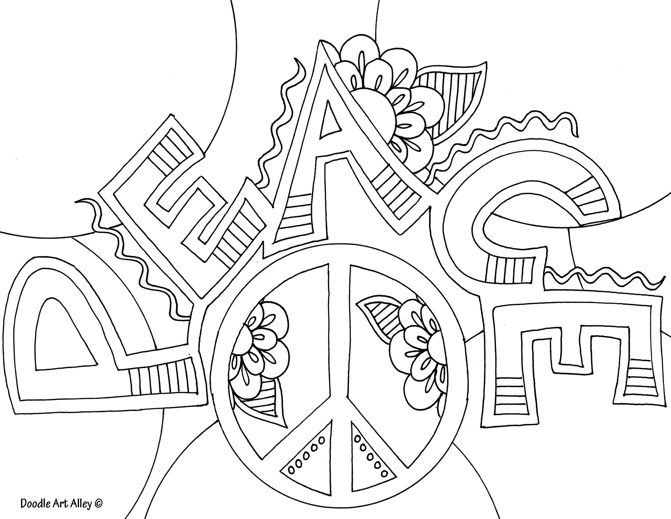 Doodle art alley coloring pages coloring home for Free doodle art coloring pages